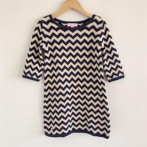 Girls' Lilly Pulitzer Gemma Chevron Sweater Dress